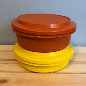 Two Vintage Tupperware Bowls/Lids